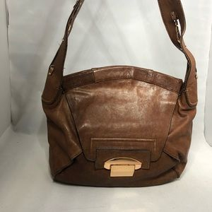 Kooba brown soft leather gold hardware shoulder